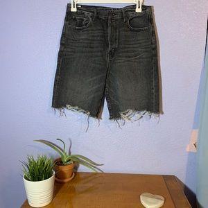 American Eagle Long Cut Off Mom Shorts